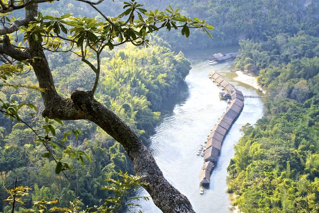 River Kwai, Dødens Jernbane og Erawan Vandfaldene